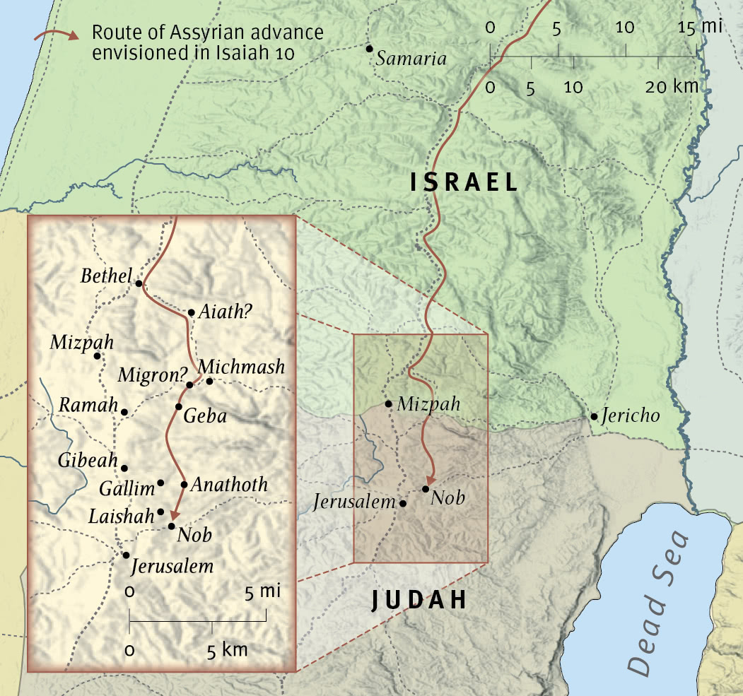Assyria Advances toward Jerusalem