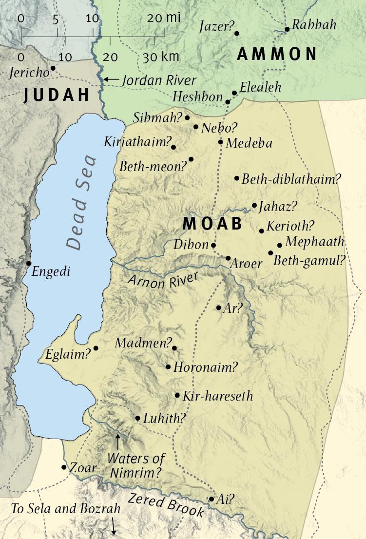 Isaiah Prophesies against Moab