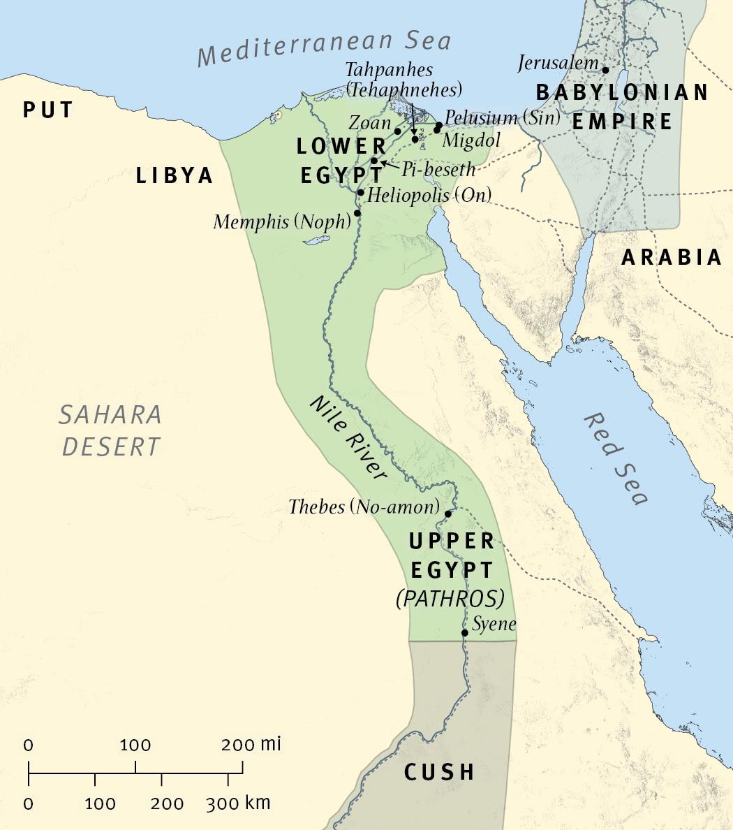 Ezekiel Prophesies against Egypt