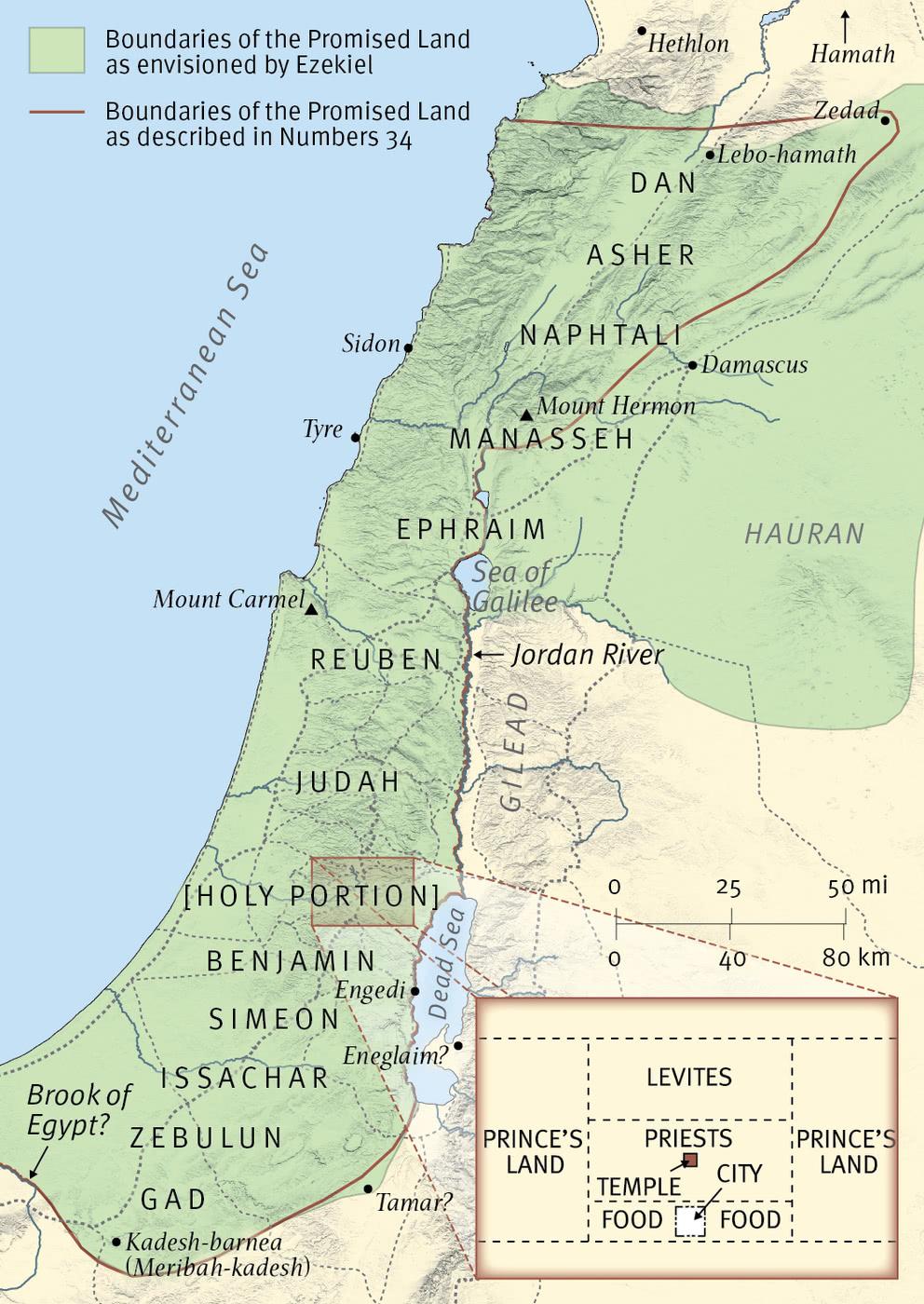 Ezekiel's Vision of Israel's New Boundaries
