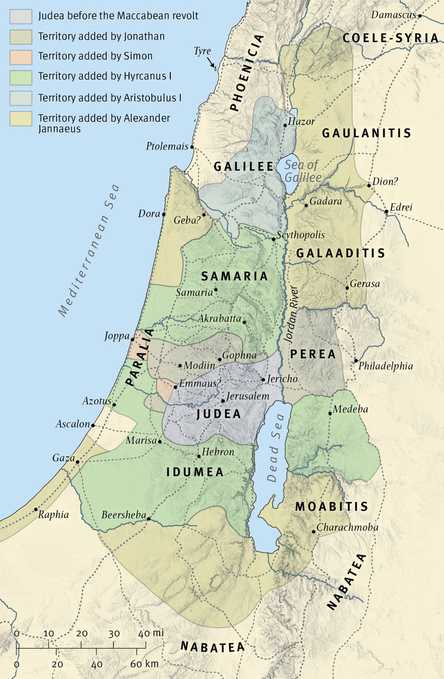 Map 9: Israel under the Maccabees