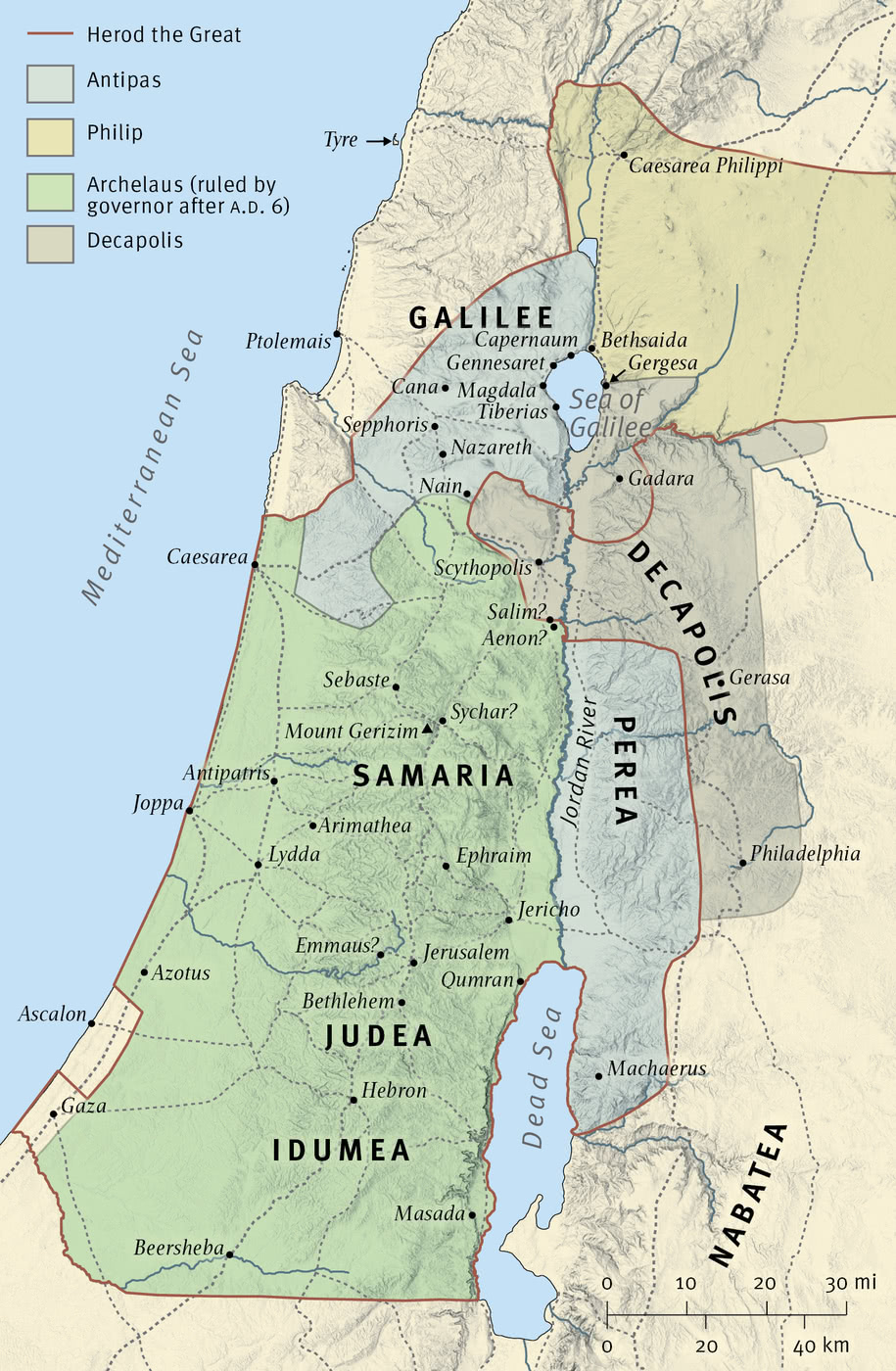 Map 11: Palestine under Roman Rule