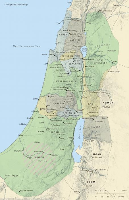 Map 4: The Tribal Allotments of Israel