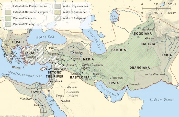 Map 8: The Persian and Greek Empires