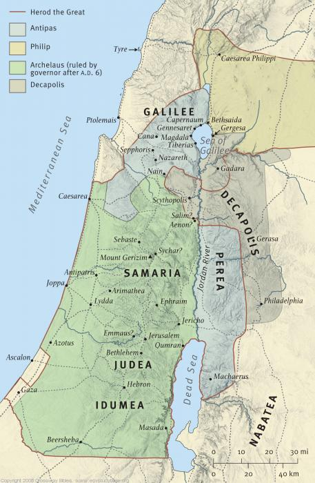 Map 11: Palestine under Roman Rule