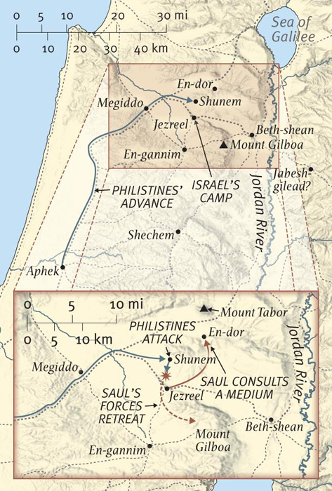 The Battle at Mount Gilboa