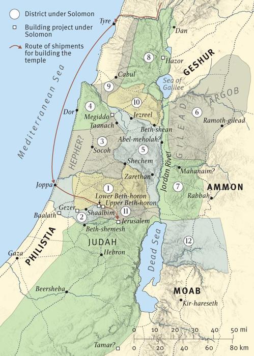 Solomon's Administrative Districts