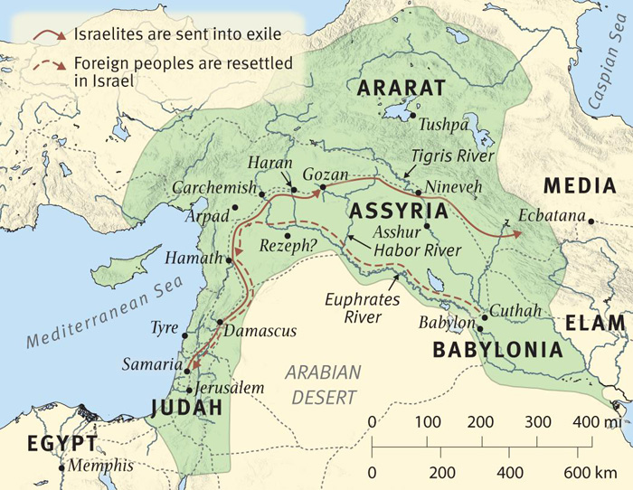 The Fall of Samaria and Deportation of Israelites