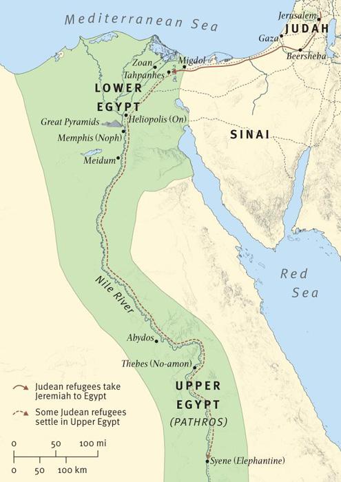Jeremiah Prophesies against Egypt