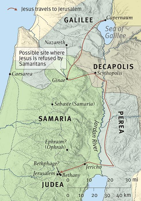 Jesus Travels to Jerusalem